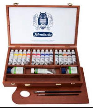 Schmincke Acryl PRIMAcryl Set Holzkoffer 15x35ml und Zubehör