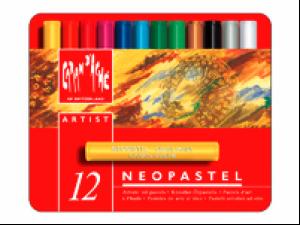 Caran d'Ache Artist Neopastel Set Metallschachtel 12 Farben