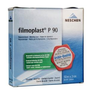 Filmoplast Klebeband, Weiss, wasserablösbar, P90 2cm breit alterungsbeständig säurefrei