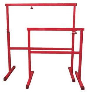 Malerböckli / Böckli Multi verstellbar Metall Rot Höhe 72-120cm Breite: 72-110cm